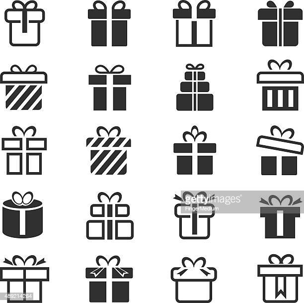 Ensemble d'icônes de cadeau