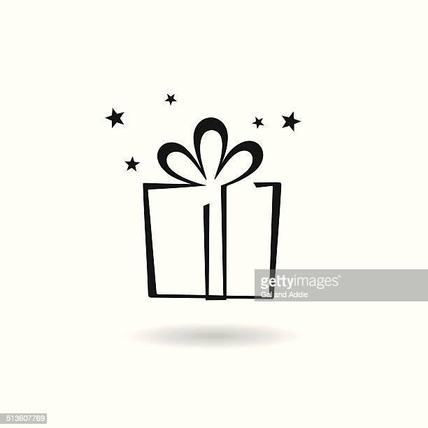 ilustraciones, imágenes clip art, dibujos animados e iconos de stock de icono de regalos - cajaderegalo
