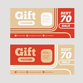 Gift or discount voucher template with modern design