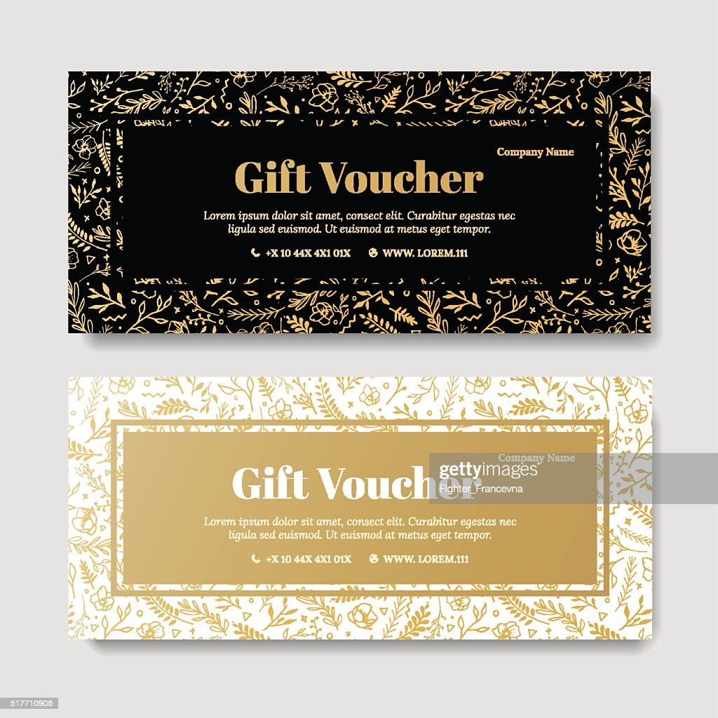 Gift premium voucher, coupon template.
