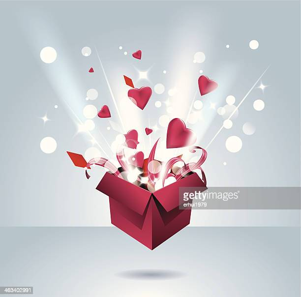 ilustraciones, imágenes clip art, dibujos animados e iconos de stock de tienda de regalos - caja de regalo