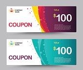 Gift voucher card template design. Coupon template. vector.