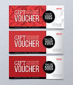 Gift voucher design template. Modern geometric banner background.