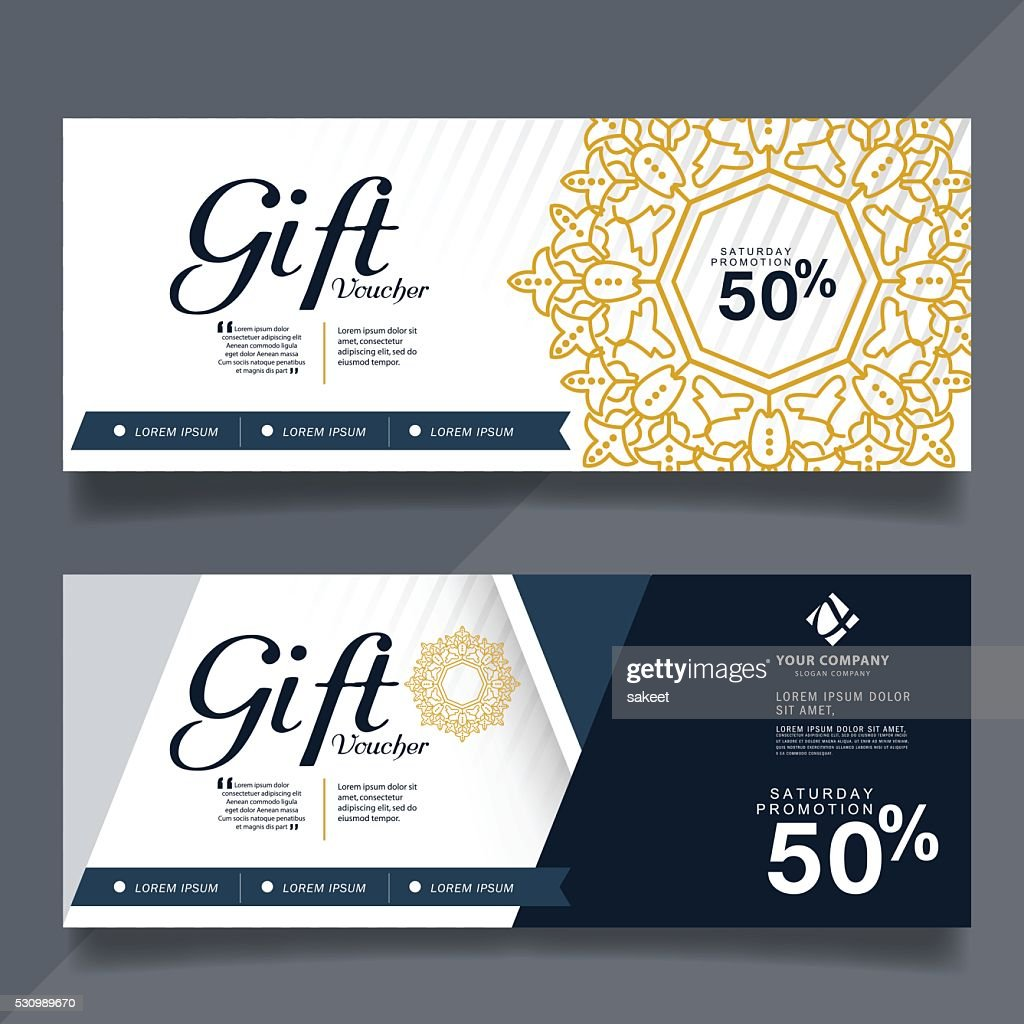 gift voucher design vector template
