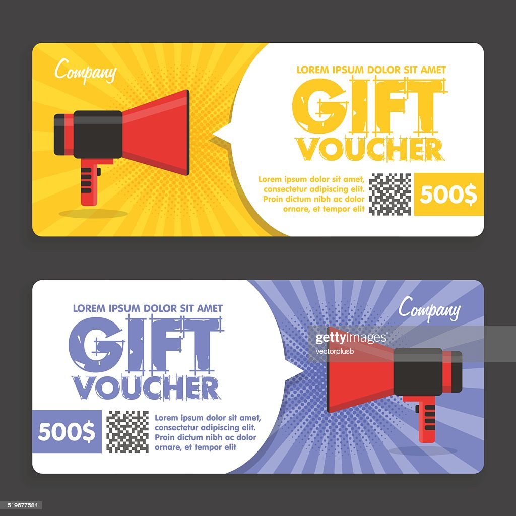 Gift Voucher. Flat Design. Announcement