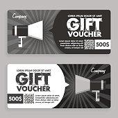 Gift Voucher. Flat Design. Announcement