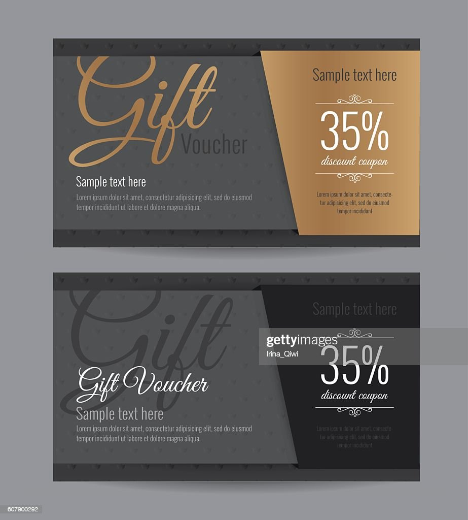 Gift voucher gold card and back card premium coupon.
