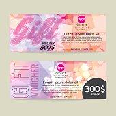 Gift Voucher Modern Template Design.