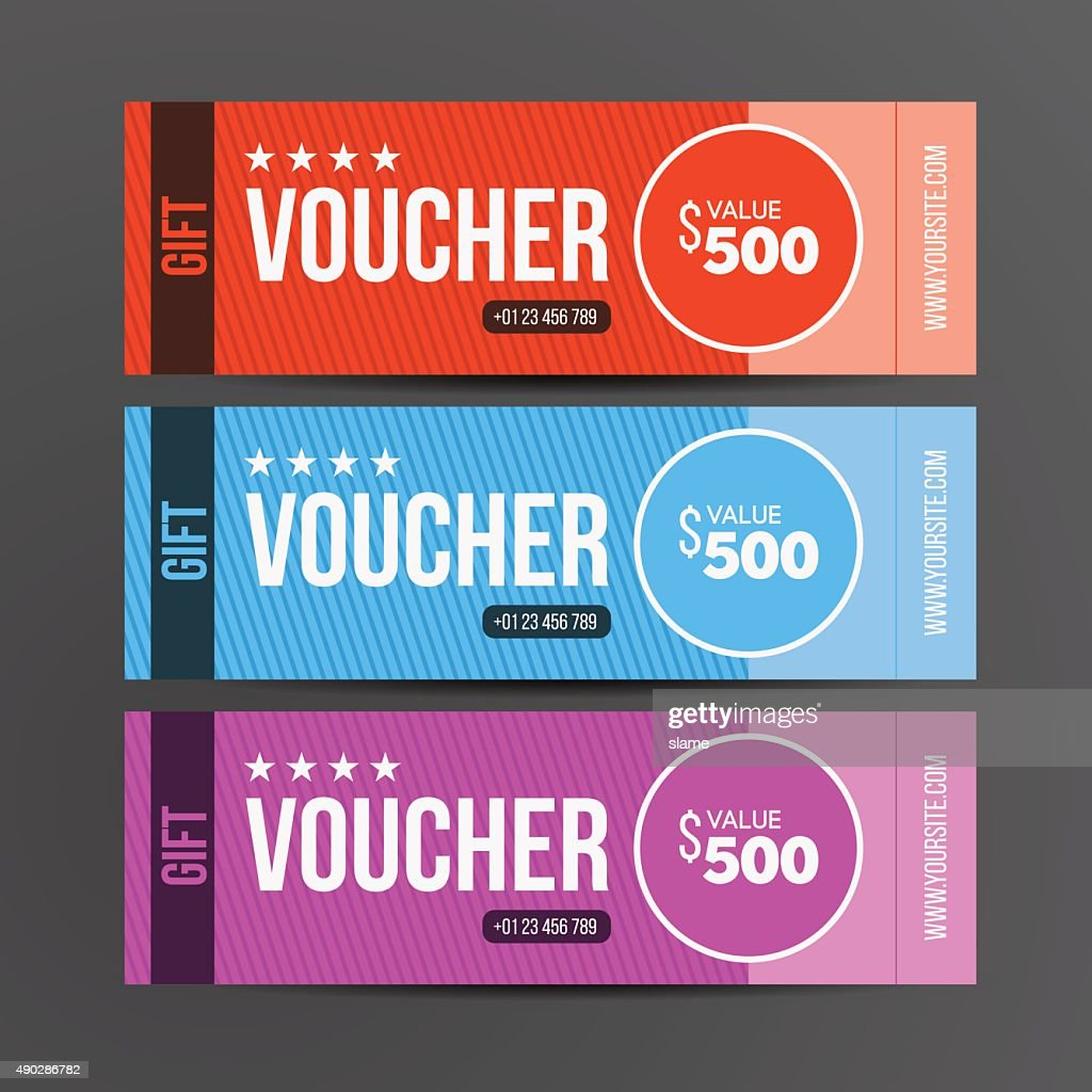 Gift voucher template. Coupon design. Vector illustration.