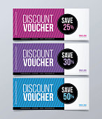 Gift voucher template design and colorful polygonal background.