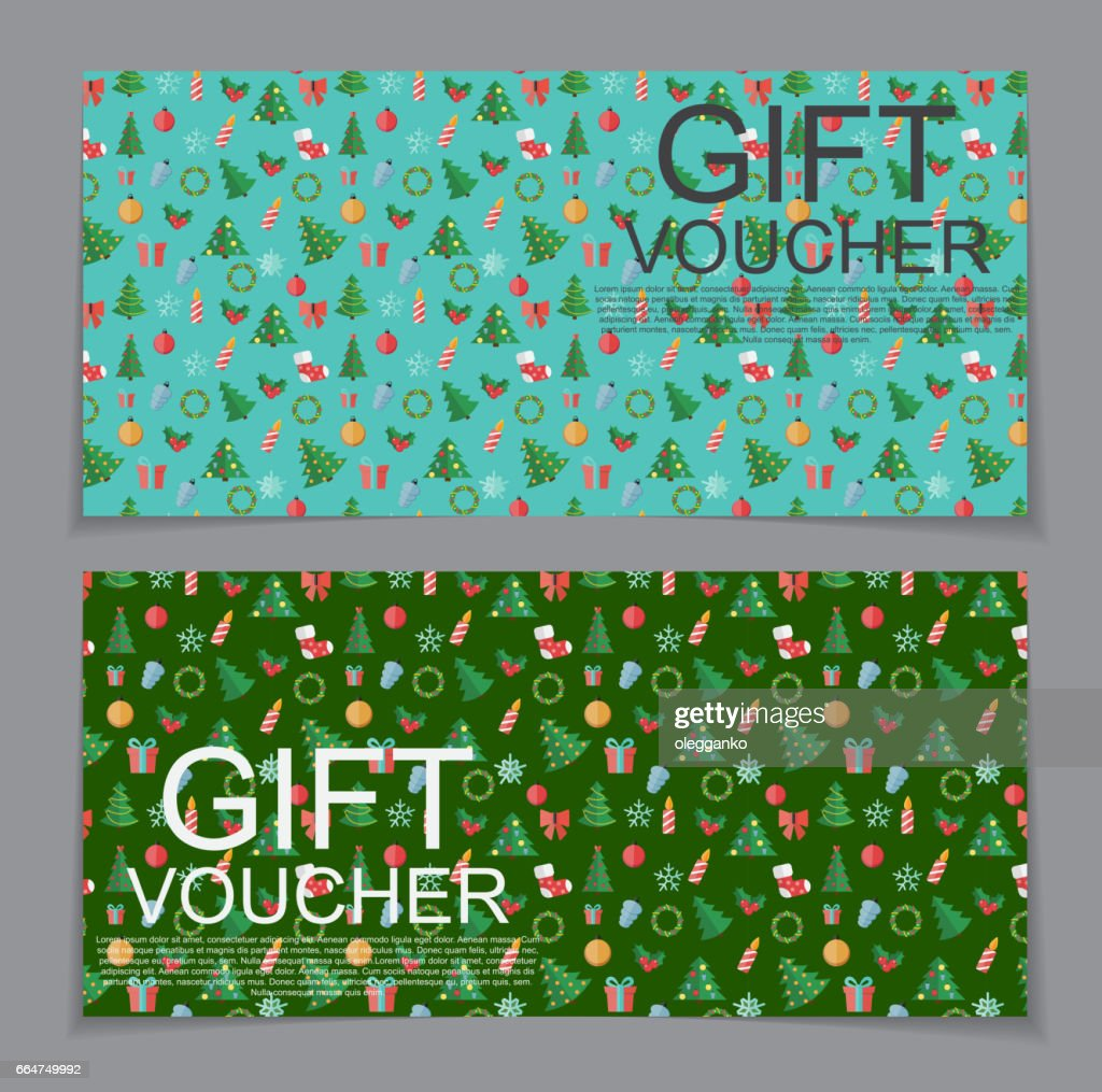 Gift Voucher Template for Christmas and New Year Discount
