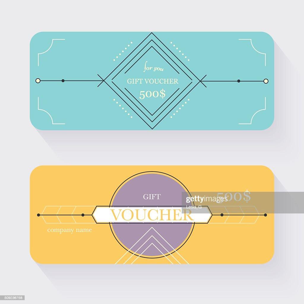 Gift Voucher Template Gift Certificate Background Design Gift Vector