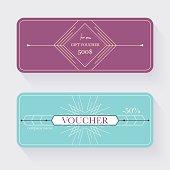 Gift voucher template. Gift certificate. Background design gift
