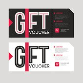 Gift voucher template set. Sale coupon.