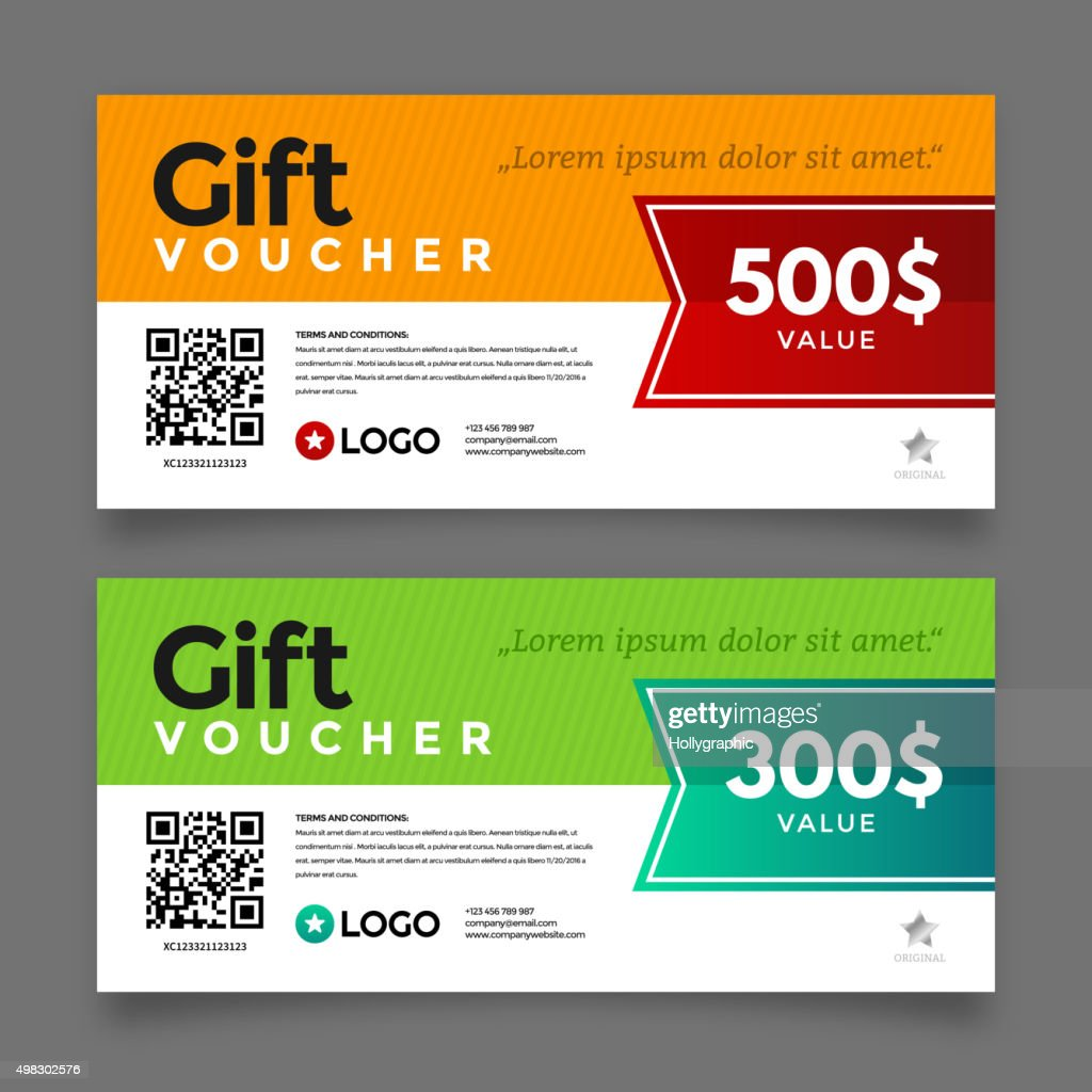 Gift voucher template, vector graphic design