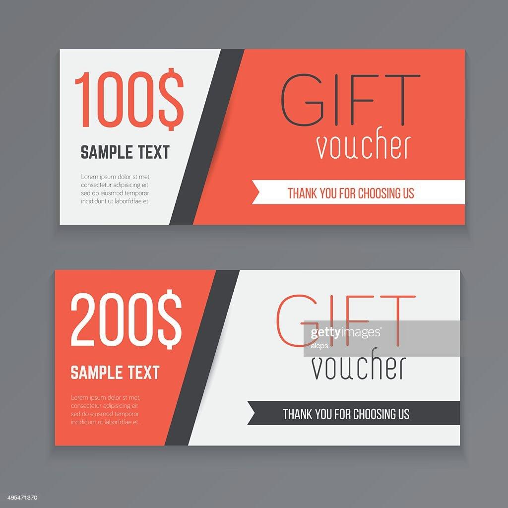 Gift voucher template.