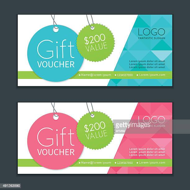 gift vouchers template - coupon stock illustrations