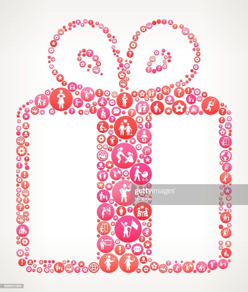 Gift Women Girl Power Icons Vector Background High Res Vector Graphic Getty Images