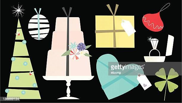 ilustraciones, imágenes clip art, dibujos animados e iconos de stock de envoltura de regalos - roscadepascua