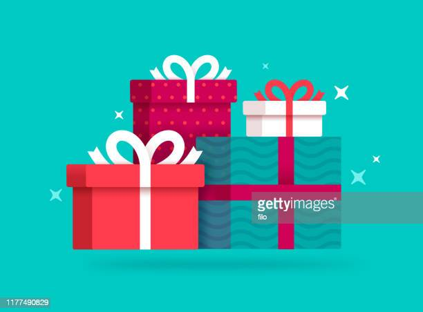 gifts and presents - gift stock illustrations
