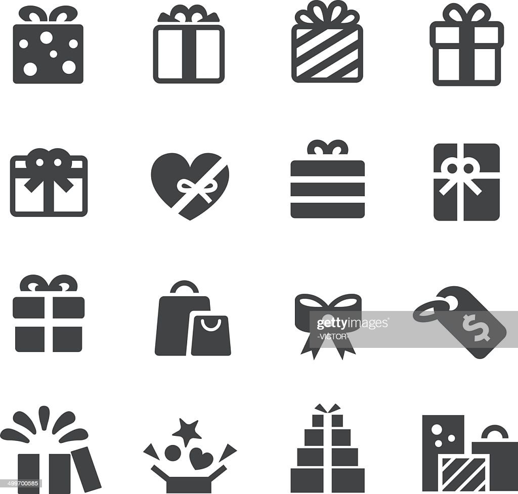 Gifts Icons - Acme Series : stock illustration