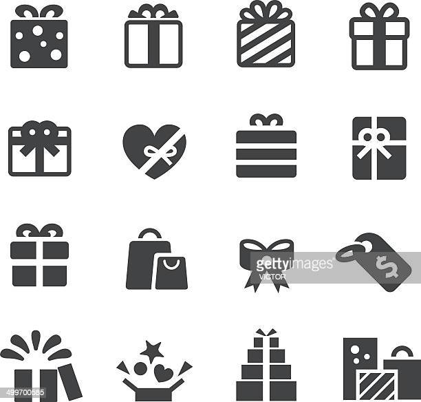 gifts icons - acme series - gift stock illustrations