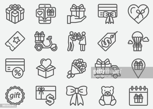 Geschenke-Linie-Icons