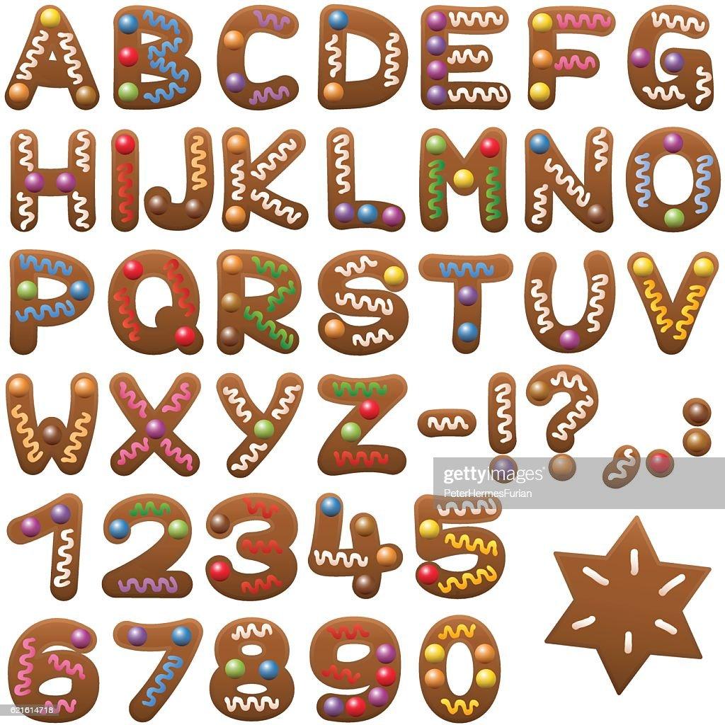 Gingerbread Alphabet Letters Font
