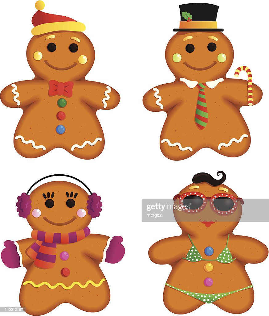 Gingerbread cookie characters