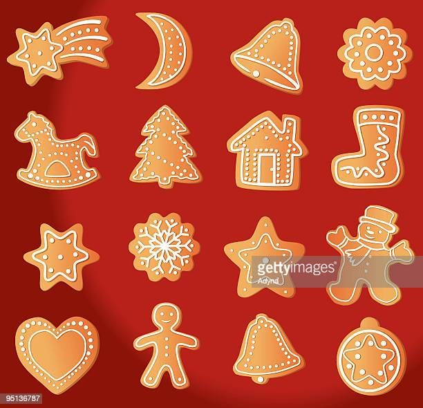 gingerbread cookie - gingerbread house stock illustrations, clip art, cartoons, & icons