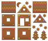 Gingerbread House Candies Model Template