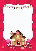 Gingerbread House copy space