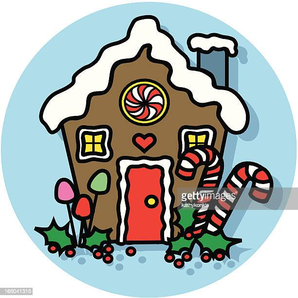 gingerbread house icon - gingerbread house stock illustrations, clip art, cartoons, & icons