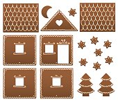 Gingerbread House Model Template