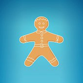 Gingerbread Man Decorated White Icing
