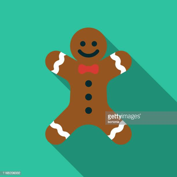 gingerbread man holiday food icon - dessert topping stock illustrations, clip art, cartoons, & icons