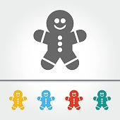 Gingerbread Man Single Icon Vector Illustration