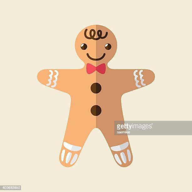 gingerbread man - glazed food stock illustrations, clip art, cartoons, & icons