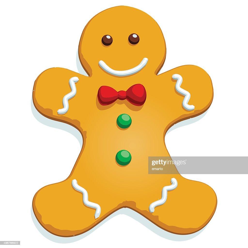 Gingerbread Man - Vector Image