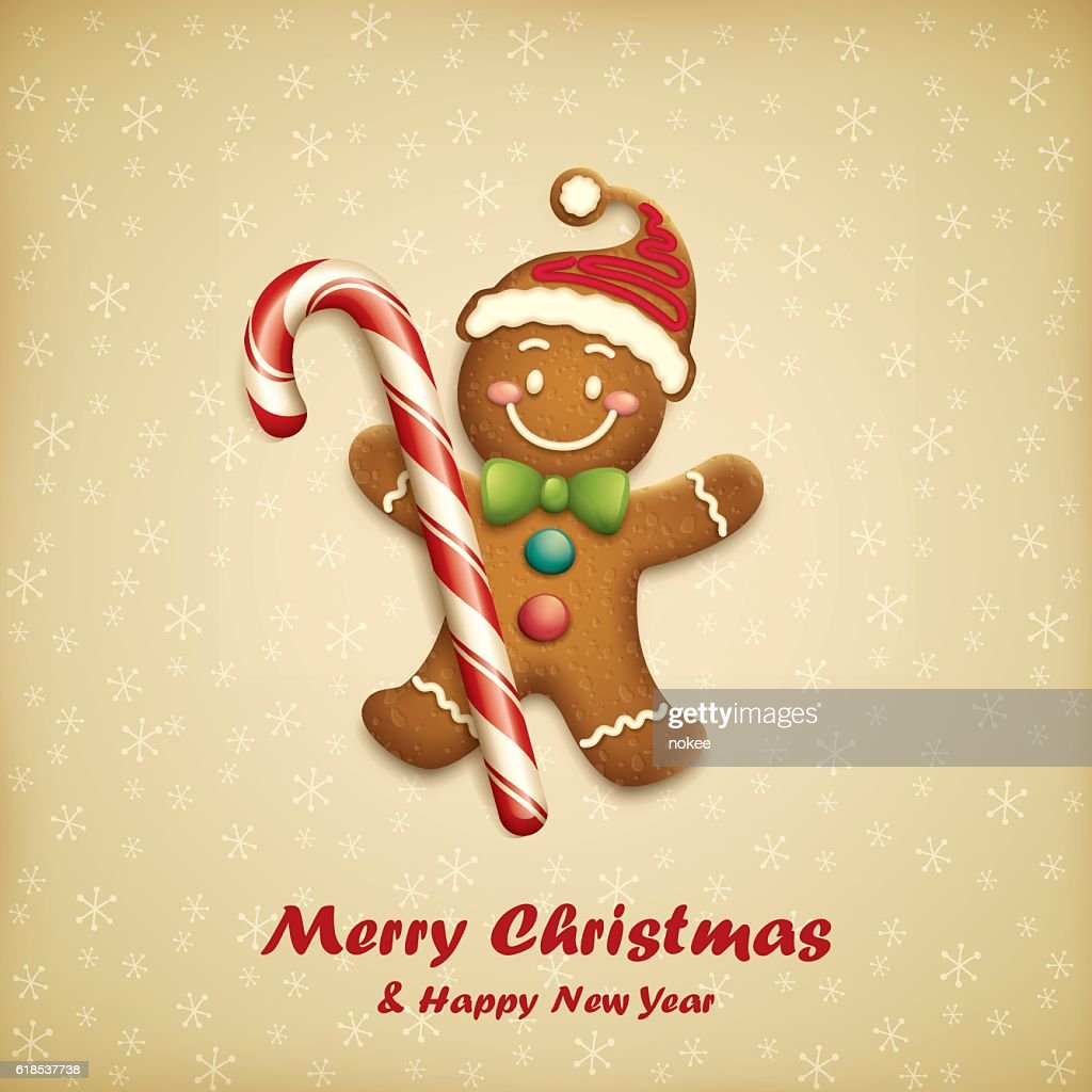 Gingerbread Man with Christmas Candy
