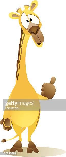 Giraffe Cartoon - Thumbs Up!
