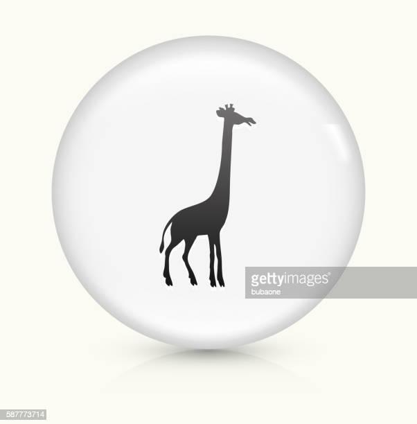 Giraffe icon on white round vector button