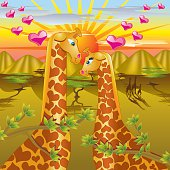 """Giraffe Love - """"Amorous Animals"""" Series"""