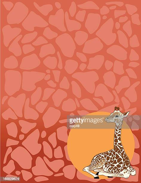 Giraffe mit Hintergrund