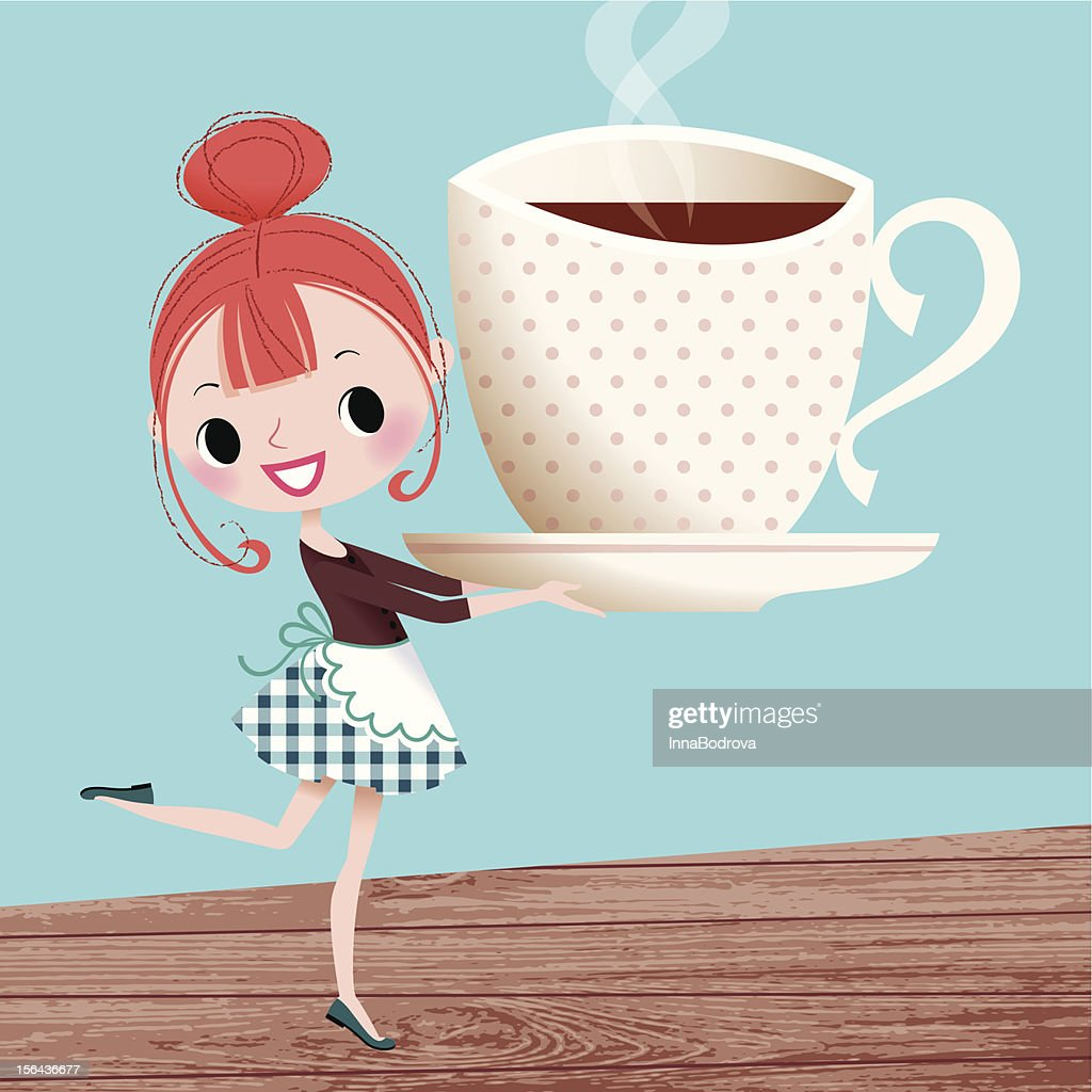 Girl and Cup fo Coffee.