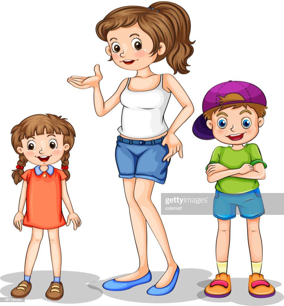 girl and her siblings