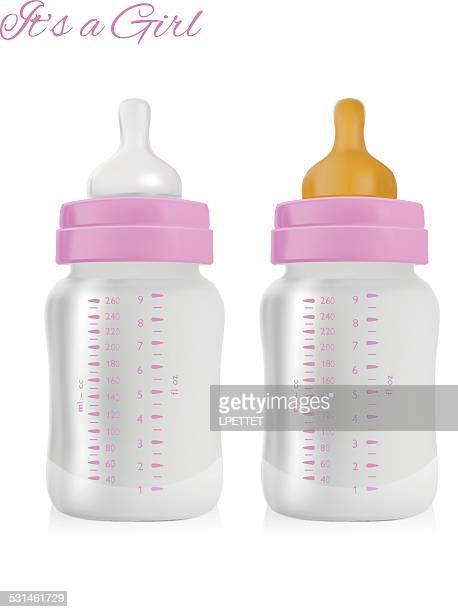 Girl Baby Bottle