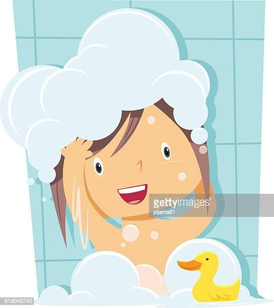 Fille de bain