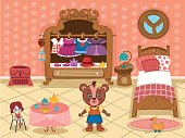 Girl Bedroom Clip Art