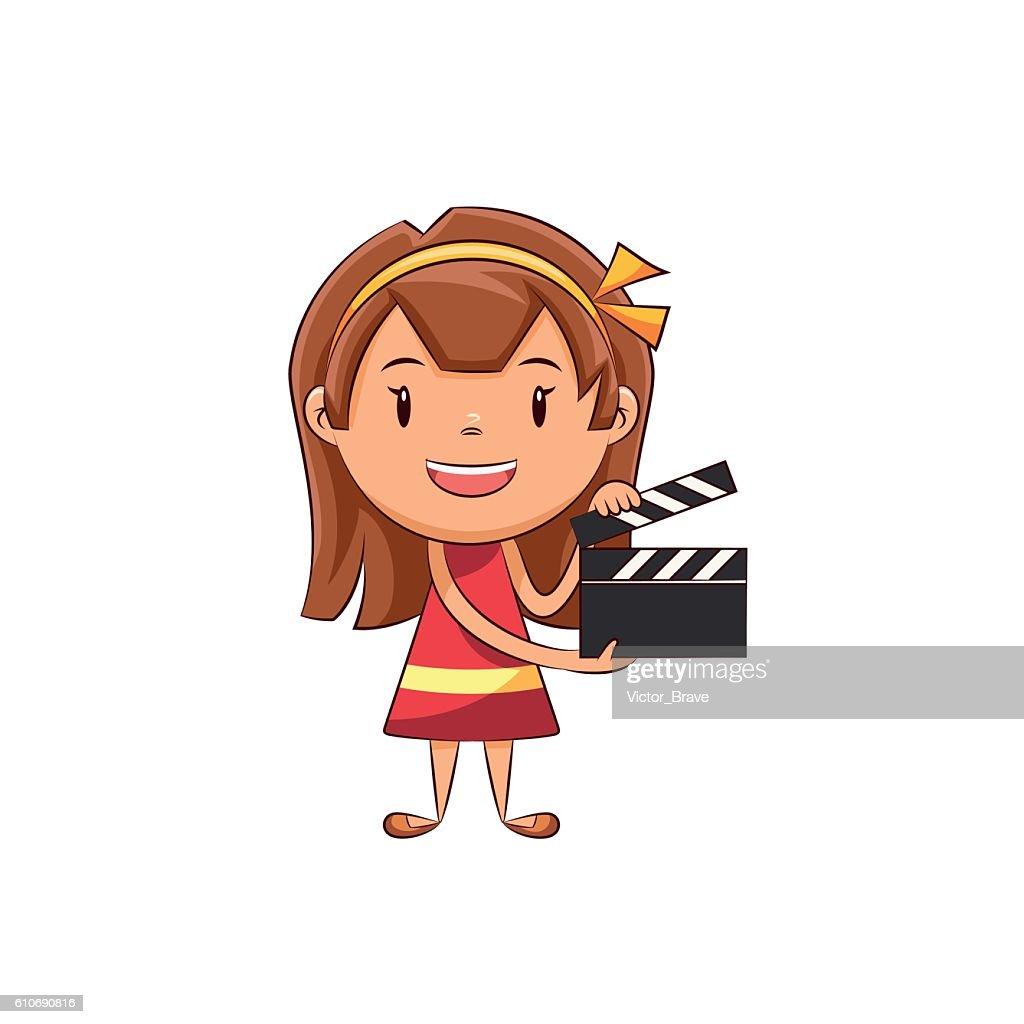 Girl clapperboard